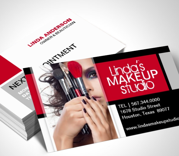 Fully Customizable Makeup Artist Business Cards Created By - Makeup artist business card template