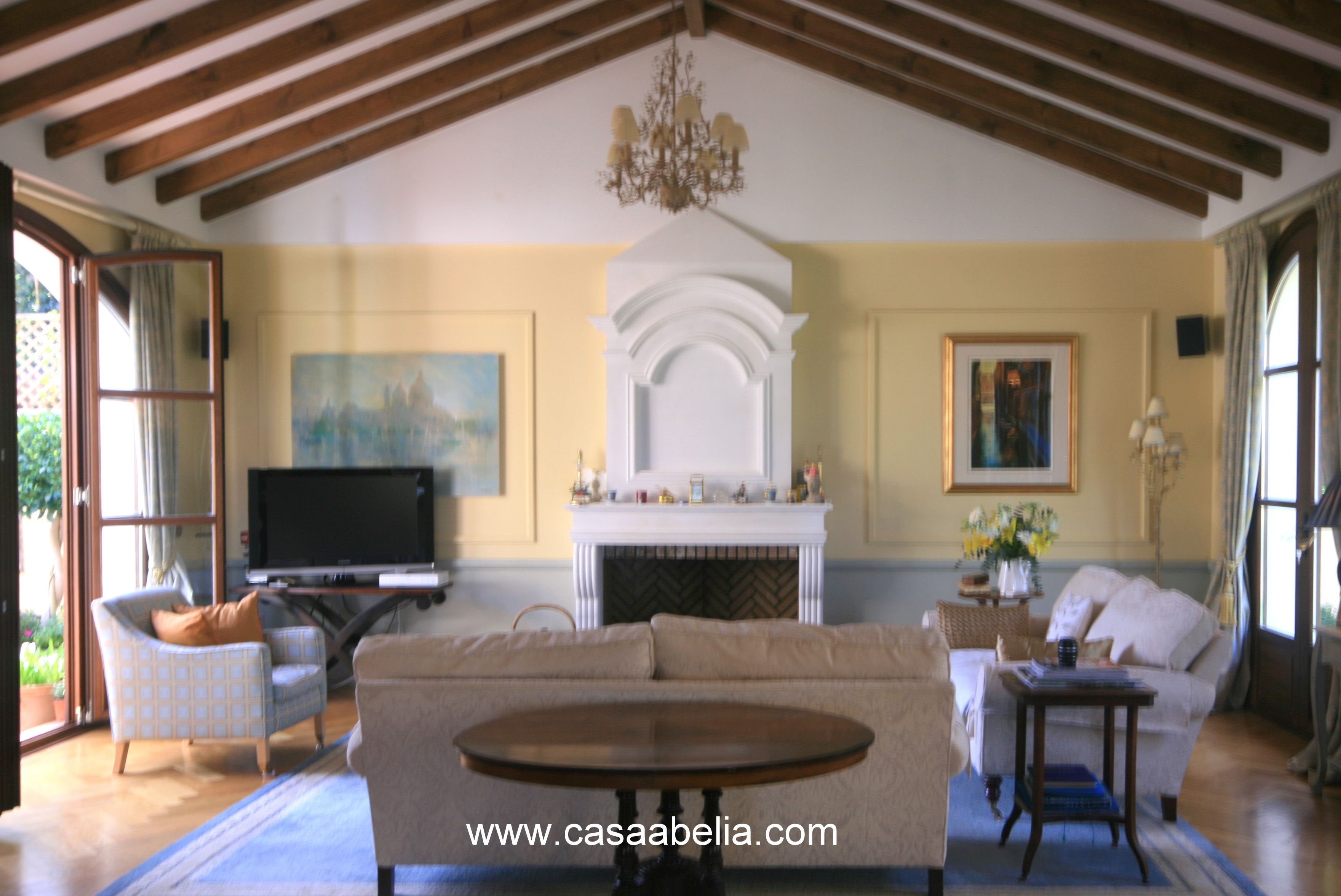 Main Salon at Casa Abelia