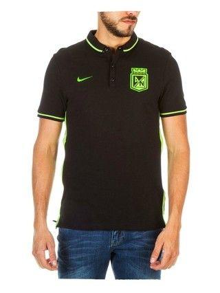 Camiseta Nike Polo Presentación Negro Atlético Nacional 2016 ... 1a4fb4e68e42c