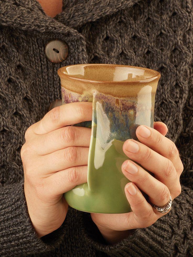 Right-Handed Handwarmer Pottery Mug