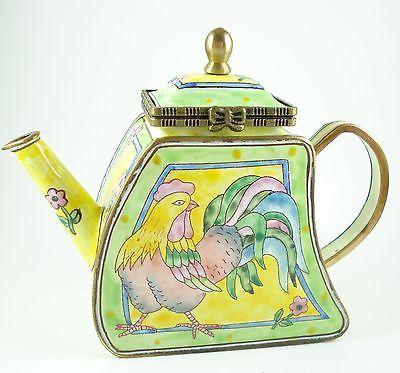 Kelvin Chen Enamel Hinged Miniature Teapot Rooster ENK840 | EBay Awesome Ideas