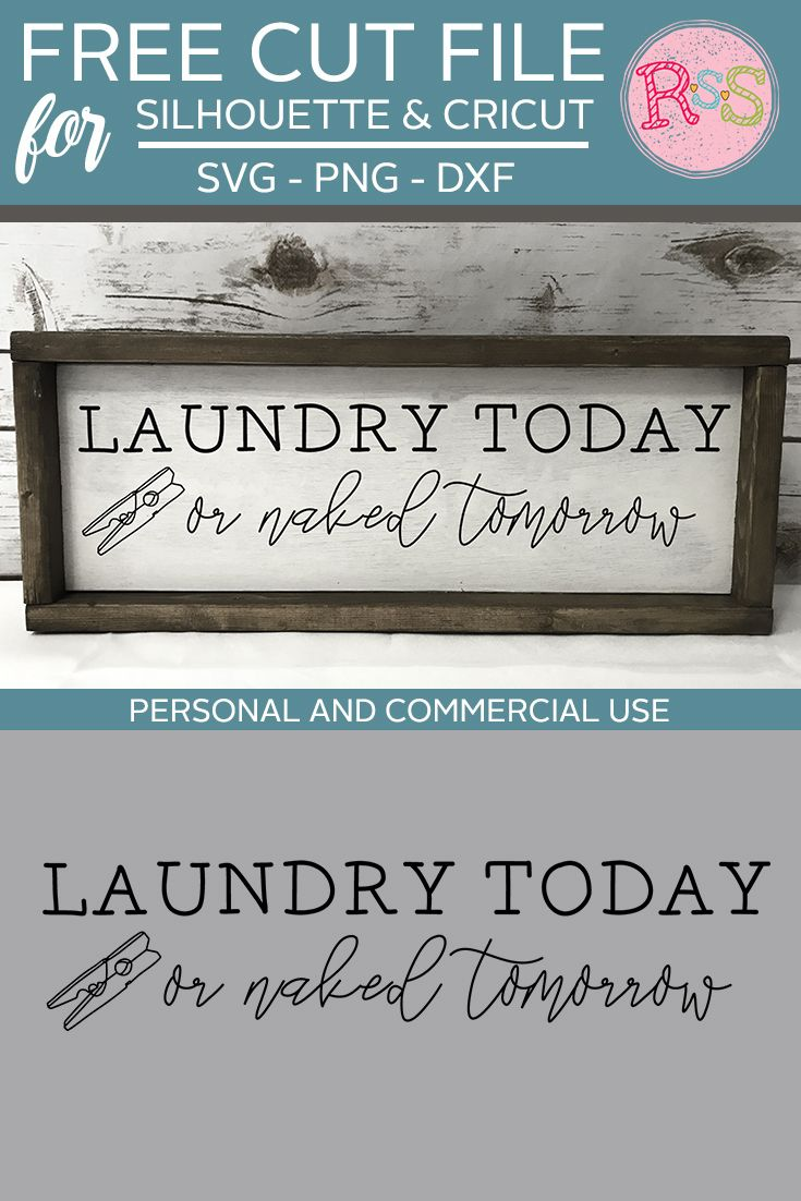 Free Laundry Today Or Naked Tomorrow SVG Cut File — Ready Set Silhouette
