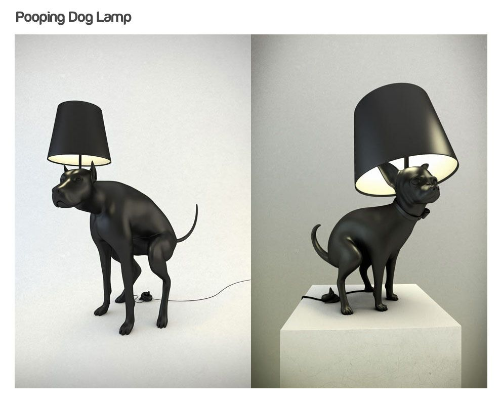 Pooping Dog Lamps Lamp Dog Lamp Cool Lamps