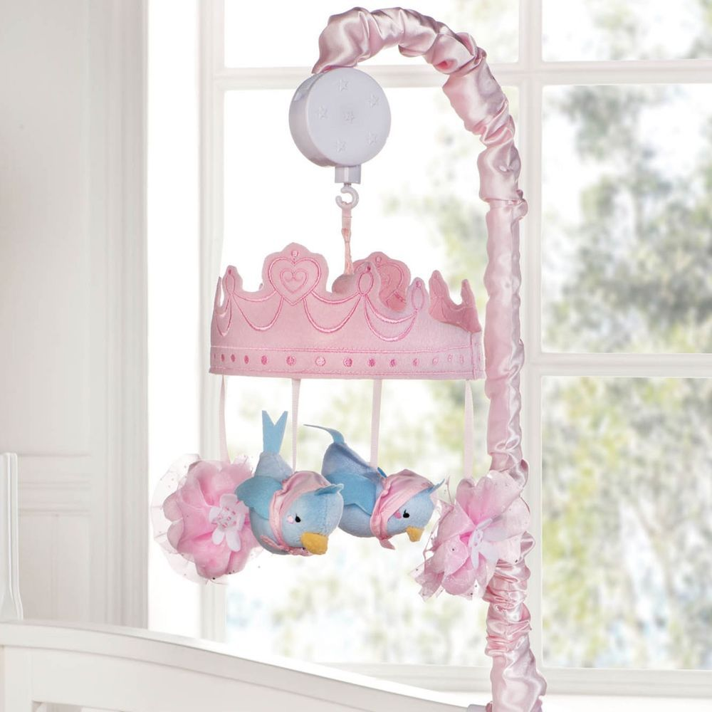 Mobile for crib babies r us - Disney Baby Cinderella Princess Girl S Crib Musical Mobile Pink Blue Flower Bird