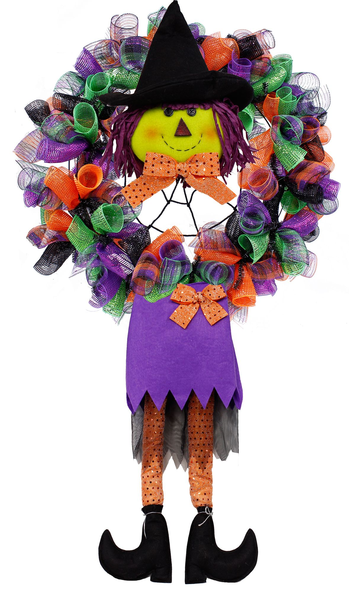 Witch legs wreath enhancement. Halloween witch legs