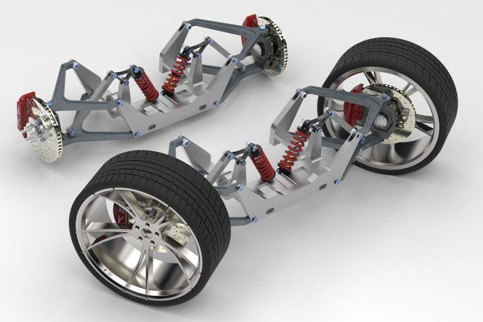 pushrod suspention system double wishbone suspension. Black Bedroom Furniture Sets. Home Design Ideas