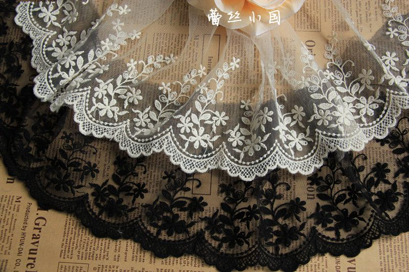 Free Shipping (10 yards/lot) 2013 New Arrival Vintage Ivory Black Kelsang Flowers DIY Christmas New Year Gift Lace Trim   $17.80 http://www.aliexpress.com/store/product/Free-Shipping-10-yards-lot-2013-New-Arrival-Vintage-Ivory-Black-Kelsang-Flowers-DIY-Christmas-New/901482_848380147.html