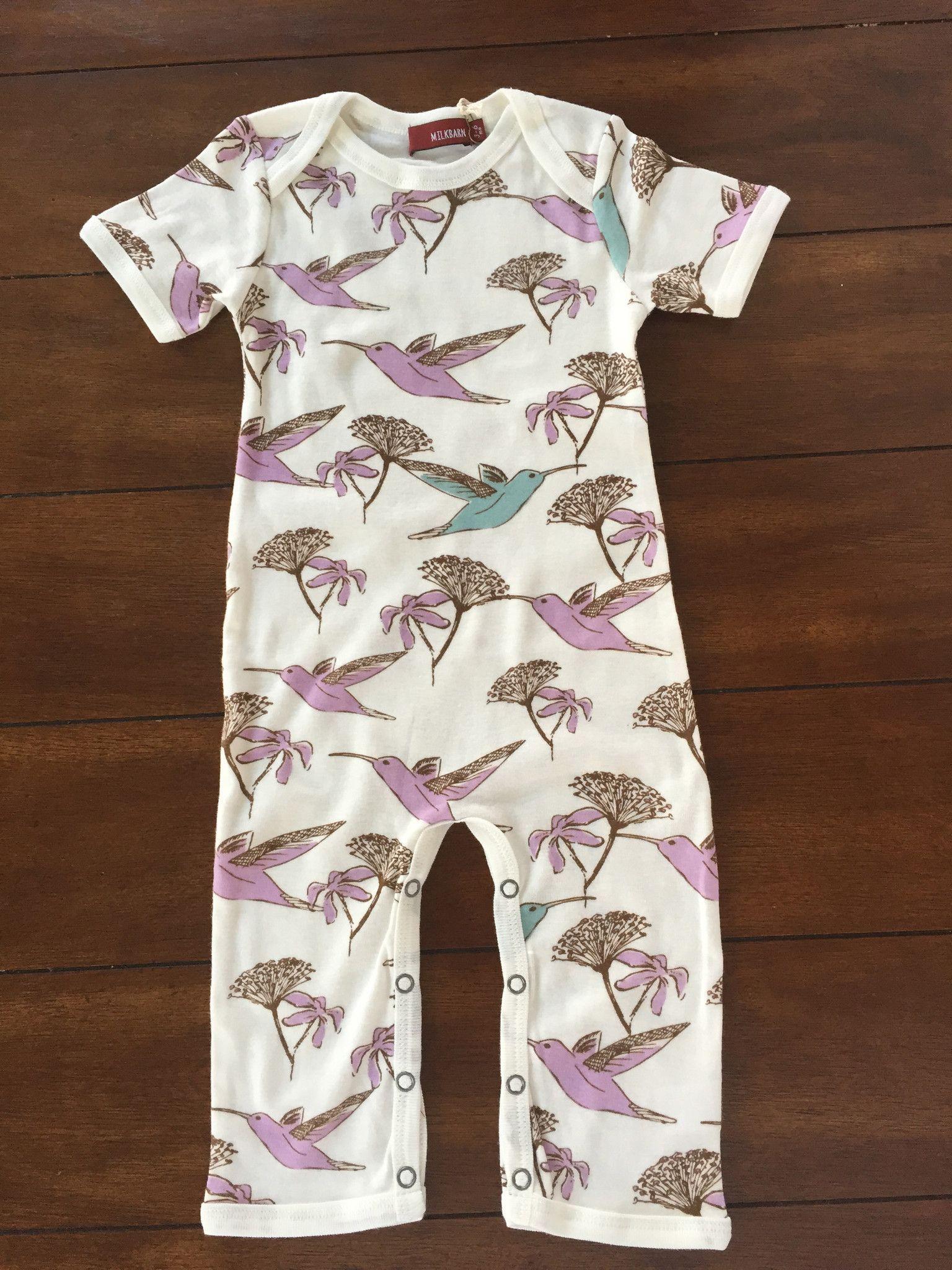 ead7b2504 MilkBarn Romper - Hummingbird | Clothes (Girl) | Rompers, Kids wear ...