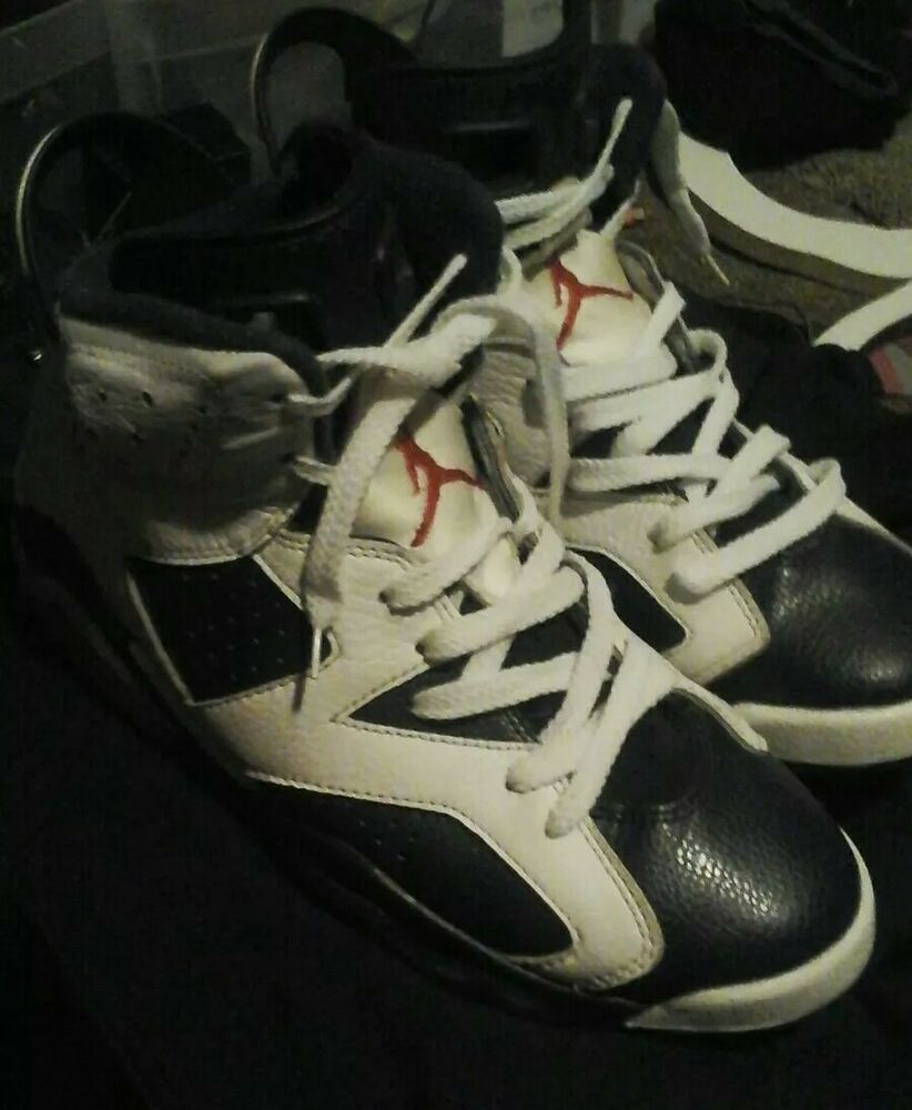 9132539960d5 AIR JORDAN 6 RETRO OLYMPIC SIZE 8 384664-130 WHITE MIDNIGHT NAVY VARSITY  RED VI  fashion  clothing  shoes  accessories  mensshoes  athleticshoes  (ebay link)