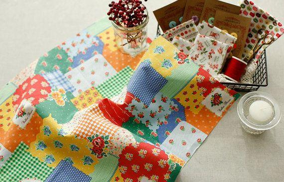Candypop Vivid Patch Pattern Design Linen & by luckyshop0228, $19.80