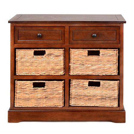 Chestnut 6 Drawer Storage Chest With Baskets | Kirklands