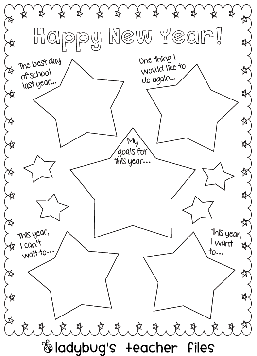 New Year\'s Writing {printable} | Teacher, Filing and School