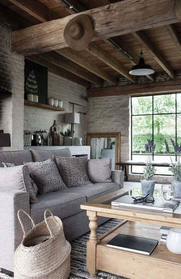 42 Ideas For Living Room Small Rustic Beams Livingroom: Home, Home Living Room, Home Deco