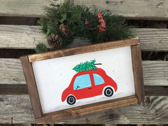 Cute christmas decor-rustic christmas decor-wood christmas sign-christmas sign