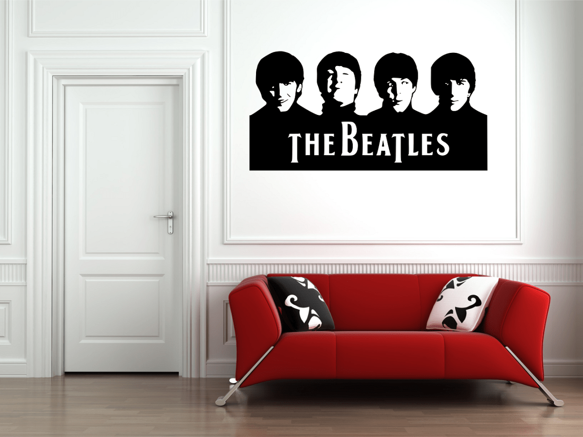 The Beatles Band Wall Art Decal Sticker & The Beatles Band Wall Art Decal Sticker | Wall/ Tile Art Vinyl Decal ...