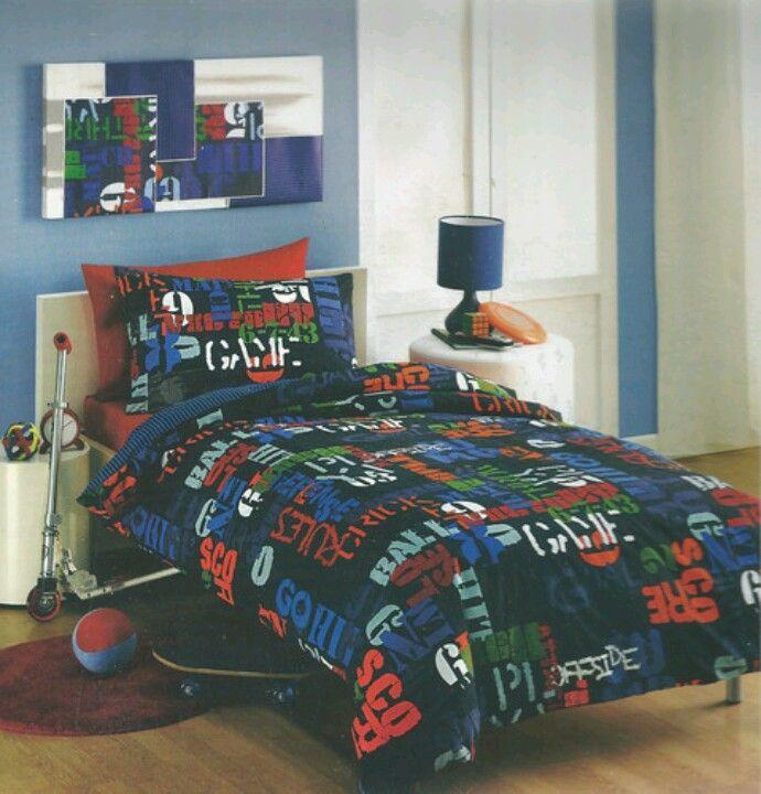 Gamer Baller Single Boys Quilt Cover Ebay Com Au Boys Bedrooms Boy Quilts Quilt Cover