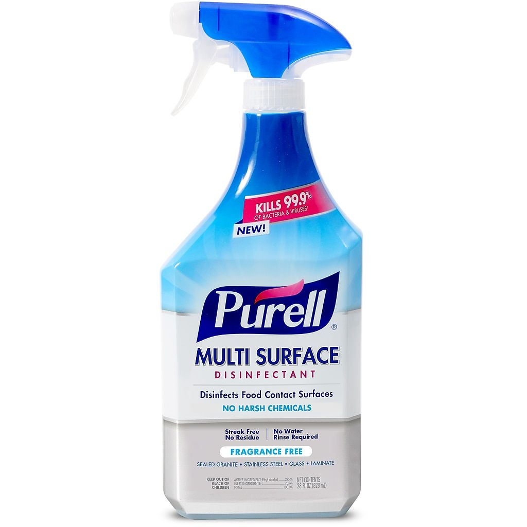 Purell Multi Surface Disinfectant 28 Fl Oz Spray Bottle With Trigger Sprayer Citrus Scent 2846 06 Cmr At Staples In 2020 Disinfectant Spray Multipurpose Cleaner Fragrance Free Products
