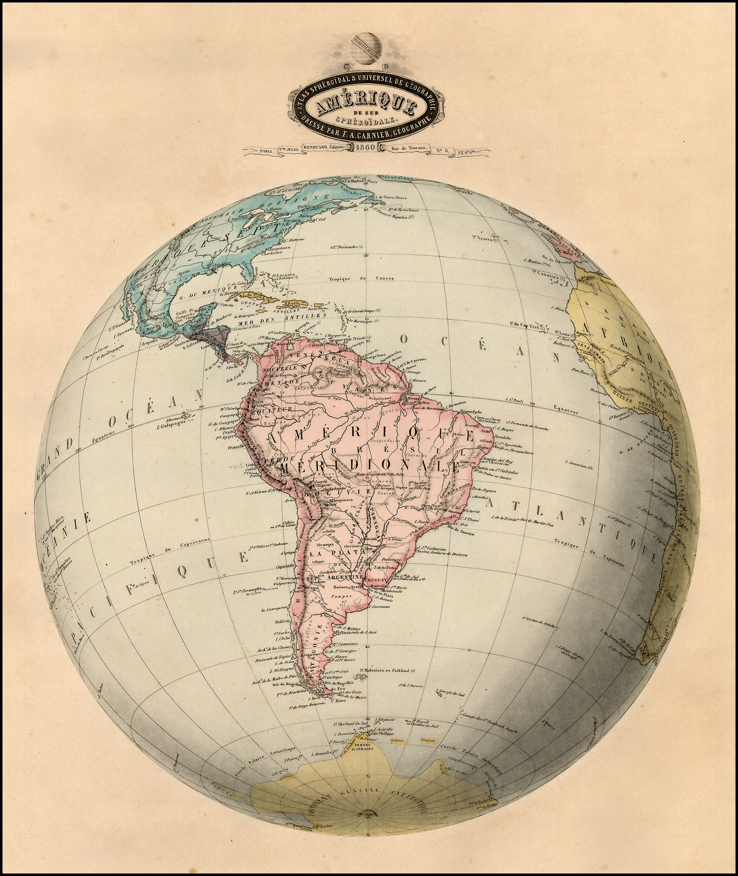 Erde Karte Rund.South America Map Maps From Everywhere Weltkarte Landkarte Und