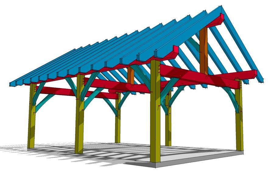 16x24 Timber Frame Plan | Pinterest | Pavilion, Picnics and Cabin