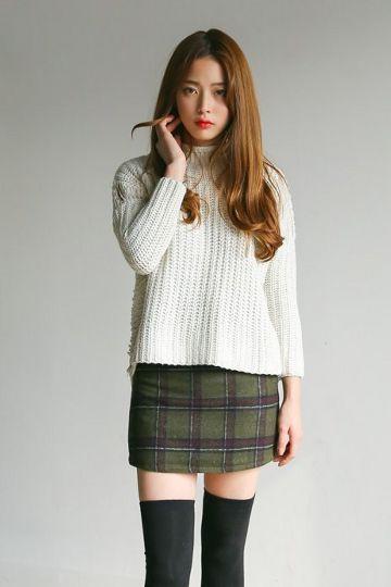Me Too Plaid Skirt | Korean Fashion | Korean fashion ...