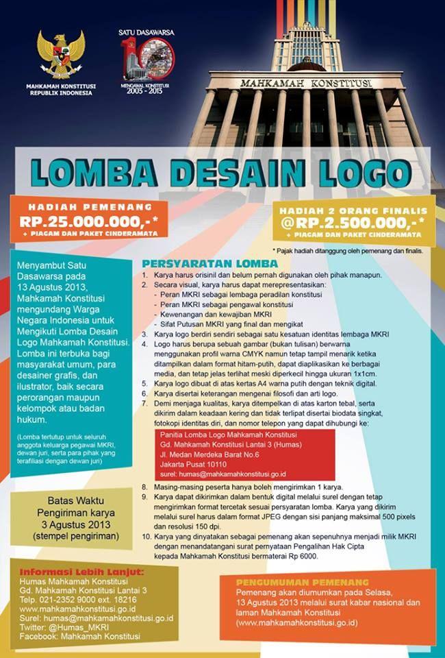 Lomba Desain Logo Mahkamah Konstitusi http://bit.ly/12DCfCg