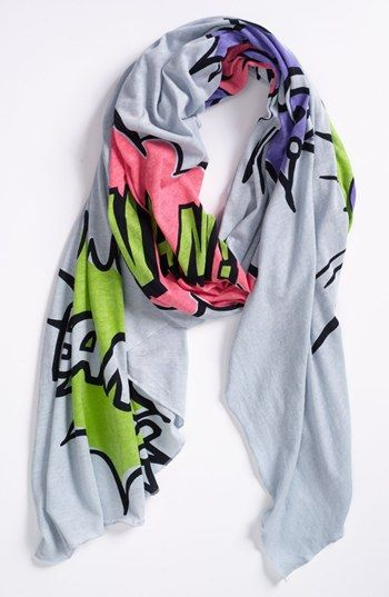 Love it! So much POP! Trouvé 'Pow' Scarf | Nordstrom