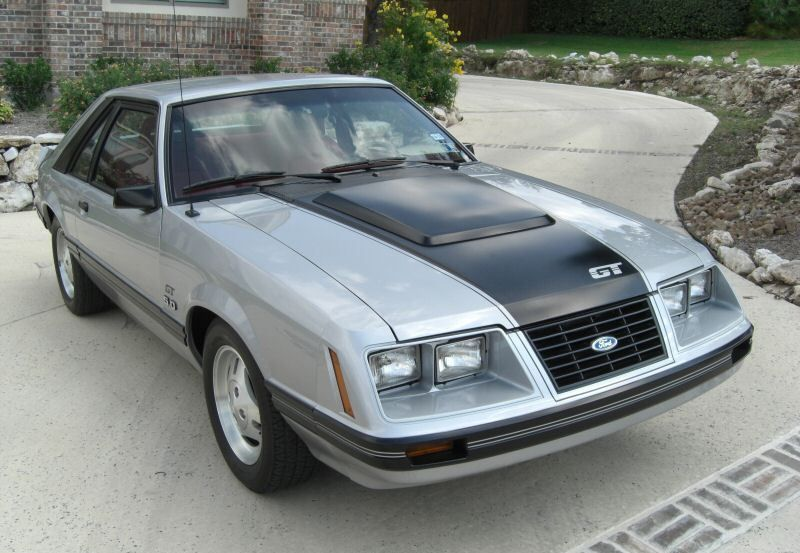 Silver 1983 Mustang Gt Hatchback Mustang Gt Fox Body Mustang Mustang