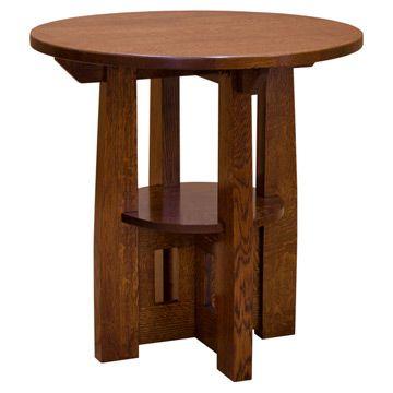 Charles Limbert Round End Table Rounding Living Room Ideas And - Mission style round end table
