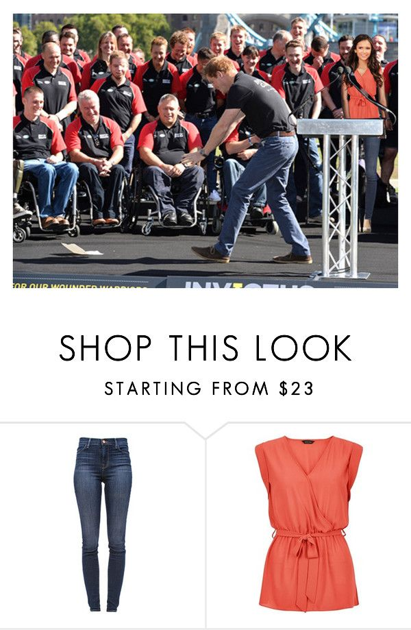 """The Earl and Countess of Sussex introduce Invictus Games Team GB (13 August 2014)"" by thexduchess ❤ liked on Polyvore featuring J Brand and Jimmy Choo"