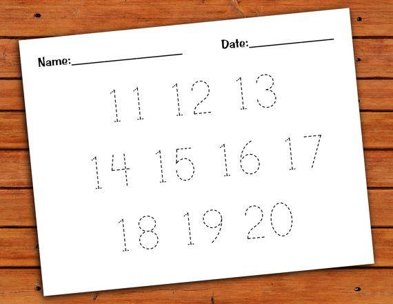 11 20 Number Trace Worksheet PDF Printable By