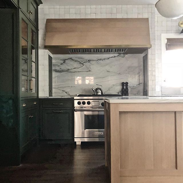 Sumptuous Green Weathered Oak Unlacquered Brass Ok Yes It S Gorgeous Another Chicago Site Visit Sneaky Peeky Weathered Oak Kitchen Renovation Oak Kitchen