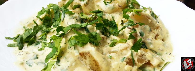 #Rezept: Rosmarin Bratkartoffeln in Senf-Käsesauce