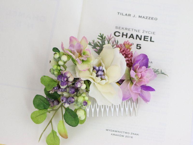Kwiatowy Grzebien Do Wlosow Lolawhite Kwiaty Do Wlosow Arreglos Florales Floral Arreglos