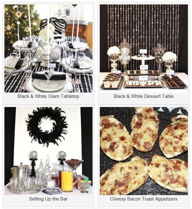 Nye Dinner Party Ideas Part - 16: Black U0026 White U0026 Silver Holiday Table. New Years DinnerNew Years Eve  PartyDinner ...