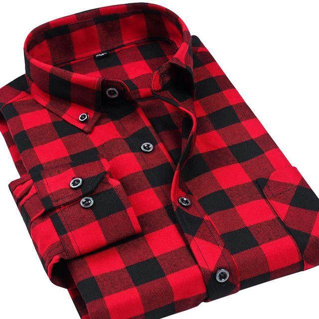 01c7d65c4973d VFan Flannel Men Plaid Shirts 2016 New Autumn Luxury Slim Long ...