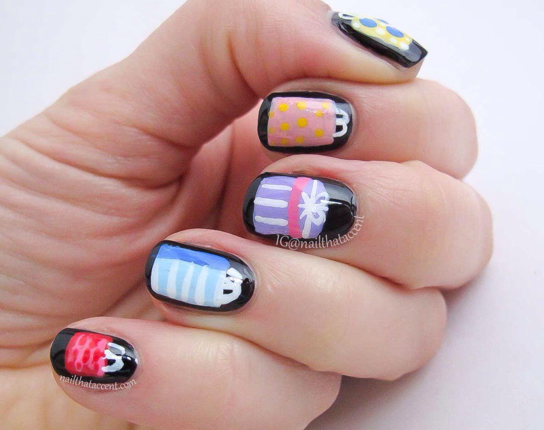 Black Friday nail art | Nails | Pinterest