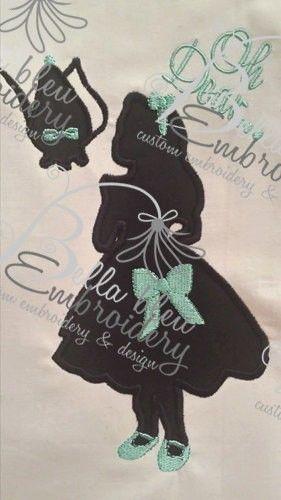 Alice Silhouette Applique Embroidery Designs Design Princess