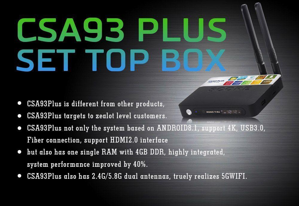 RUIJIE 4G 64G CSA93 PLus Android 8 1 TV Box RK3328 2 4G/5G