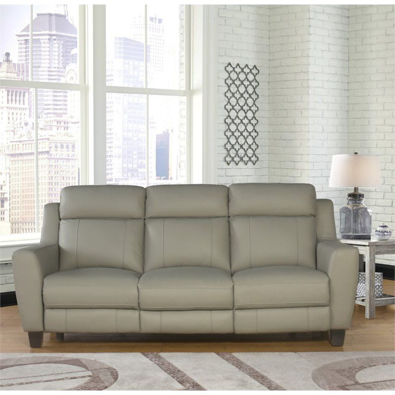 Abbyson Living Felice 2 Piece Leather Reclining Sofa Set In Gray Sk B1610 Gry 3 1 With Images Sofa Power Reclining Sofa Sofa Furniture