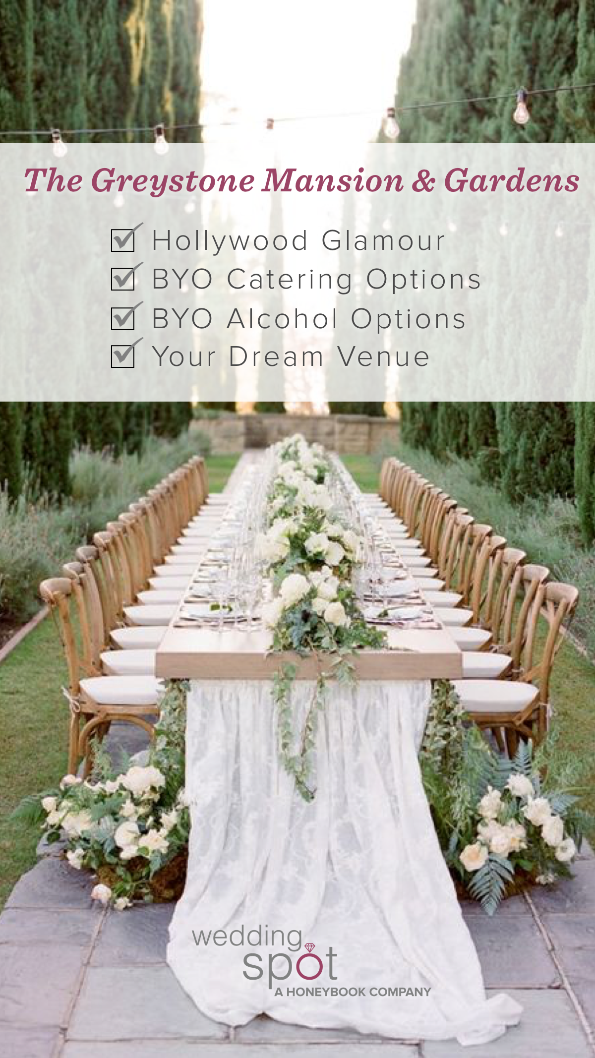 Build & price out your dream wedding at the Greystone