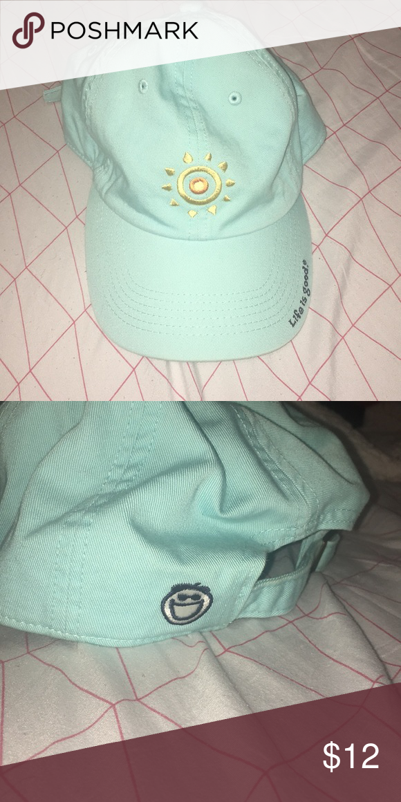 Life is Good Light Blue Baseball Cap Never worn and very