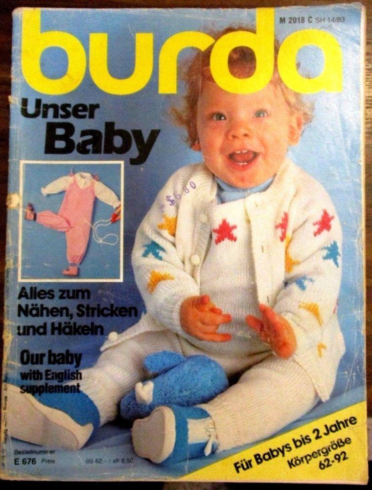 Burda Unser Baby Knits Knitting Pattern Book No 2018 Pinterest