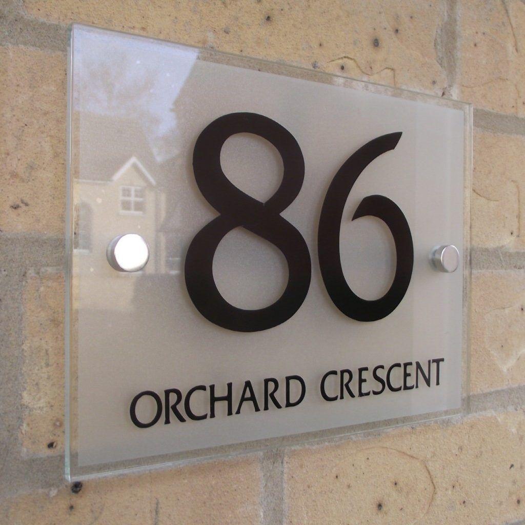 Glass Door Number Signs Door name plates, House numbers