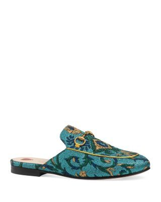 GUCCI Princetown Brocade Mules. #gucci #shoes #sandals