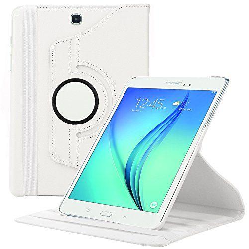 Samsung Galaxy Tab A 9.7 Hülle, EnGive 360°Drehbares Ledertasche (9.7 Zoll) Case Tasche mit Ständerfunktion Auto Sleep/Wake-Funktion (Tab A 9.7, weiß) ENGIVE http://www.amazon.de/dp/B00YA034EK/ref=cm_sw_r_pi_dp_69FLvb0KC159V