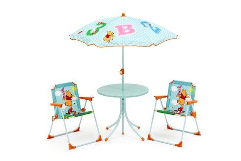 Winnie L'ourson Table 2 Turquoise Jardin Pièces Et De 4 Chaises QxBrdeWoC