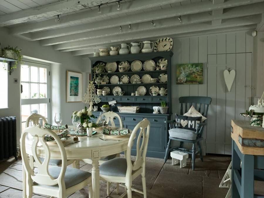 Küche Und Esszimmer, Moderner Landhausstil, Landhaus Dekor, Französischer  Landhausstil, Grau Kreide Malen