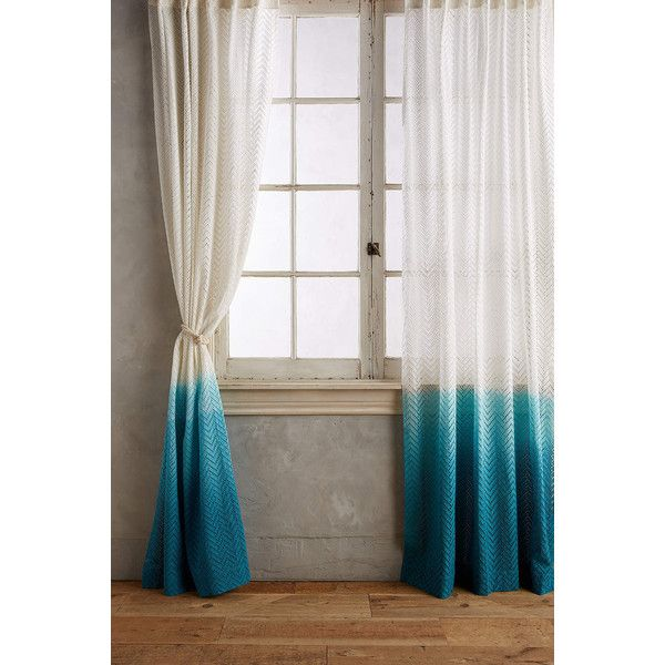 Home Decor Window Treatments: Anthropologie Ombre Horizon Curtain ($98) Via Polyvore