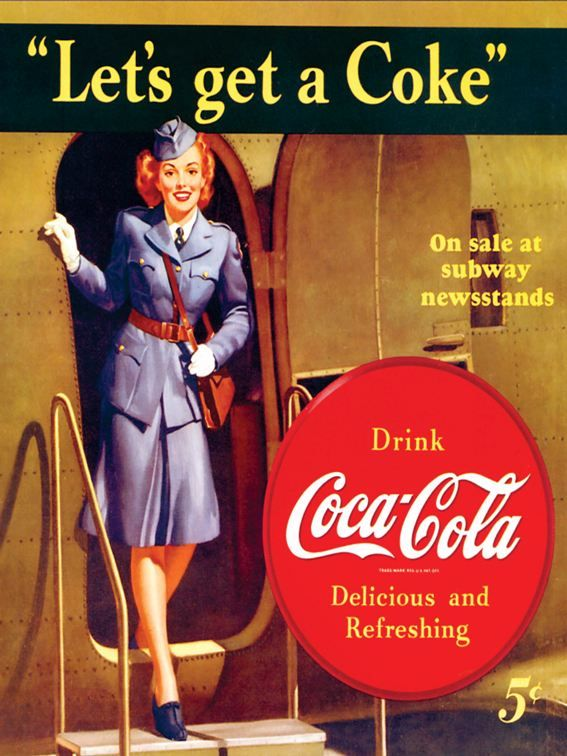 Poster Coca Cola Collage Fotografie Collection Werbung
