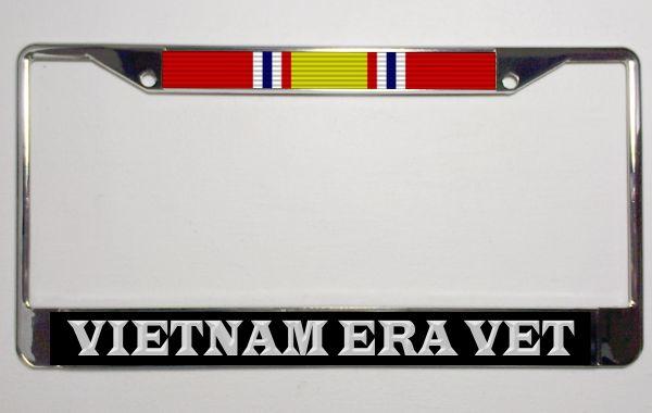 7861745a6af Vietnam ERA Veteran National Defense Ribbon Metal License Plate Frame